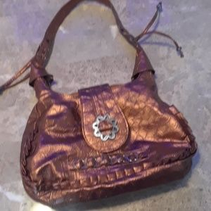Handbags - Gold with silver accent purse